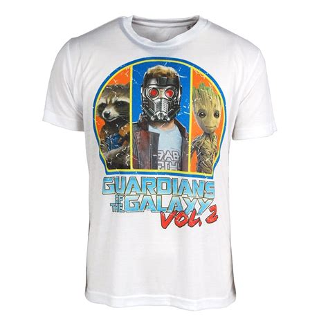 Tshirt The 2 mens guardians of the galaxy vol 2 squad t shirt white
