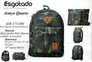 Tas Ransel Backpack Armyo Quarto tas ransel army style armyo quarto