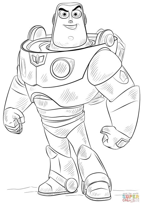 buzz lightyear coloring page free printable coloring pages