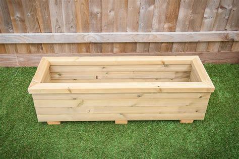 Wooden Trough Planters Uk by Trough Planters Outdoor Wooden Furniture Garden Planter