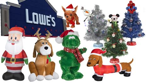Home Depot Inflatable Christmas Decorations Christmas Store Tour Lowes 2015 Animated Props