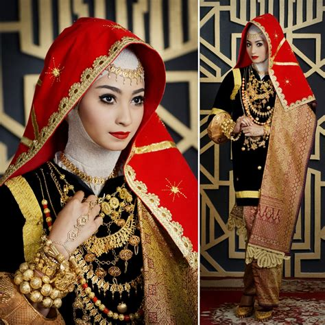 Aksesoris Pengantin Lung Baju Adat cantik berhijab secantik tradisi weddingku
