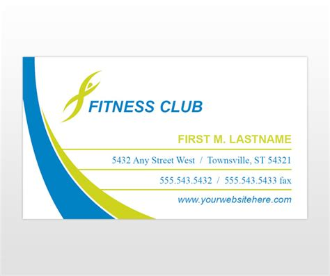 fitness business card template document moved
