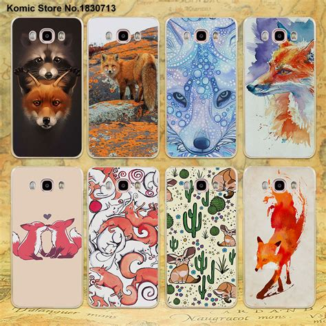 Hardcase Clear Transparant Samsung Galaxy J7 animals foxes fox design clear transparent