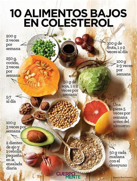 alimentos con colesterol 10 alimentos bajos en colesterol