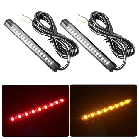 12v amber led light strips 12v universal motorcycle 17 led 2835 smd led strip tail