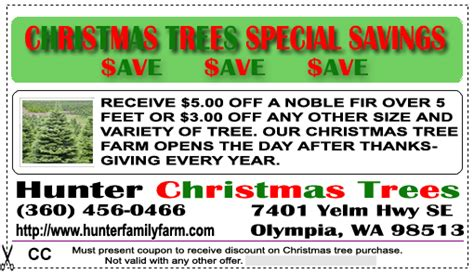 tree farm coupon coupons hunters family farms