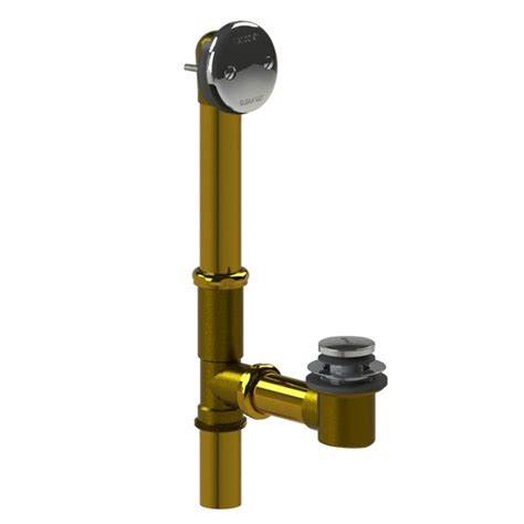 watco bathtub faucets watco 501 series 16 in tubular brass bath waste with foot