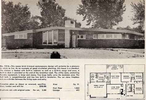 Mid Century Ranch Floor Plans Explore Mid Century Modern Homes That Are Nostalgic And