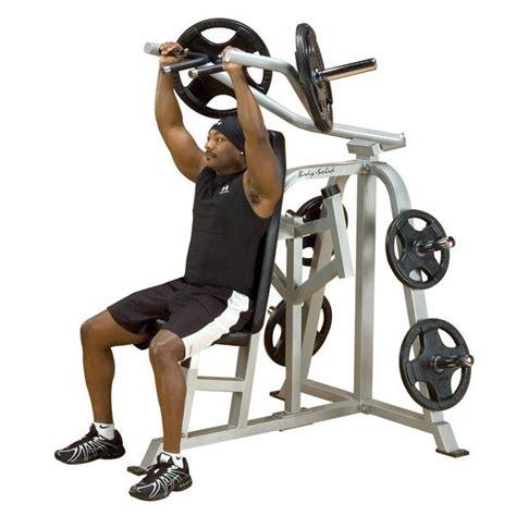leverage bench press machine body solid leverage shoulder press machine lvsp ebay