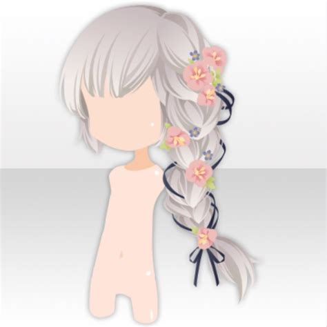 anime ribbon hairstyles image hairstyle flower side ponytail hair ver a gray