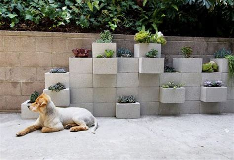 Cinder Block Wall Planter by Diy Concrete Block Planter Wall