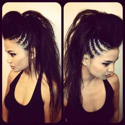 swag haircut women hairstyles black long hair cornrows braids mohawk