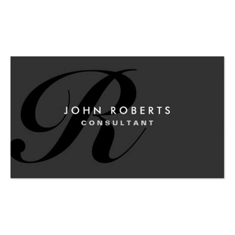 Monogram Business Card Template by Monogram Business Cards 15700 Monogram Business Card
