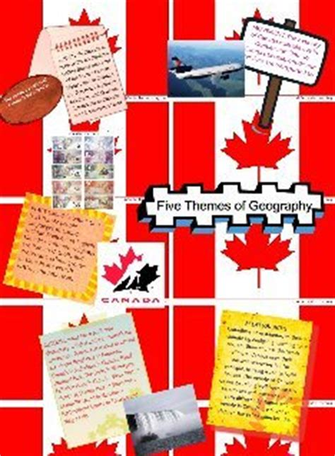 5 themes of geography canada five themes of geography template text images music
