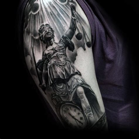 angel justice tattoo 40 lady justice tattoo designs for men impartial scale ideas