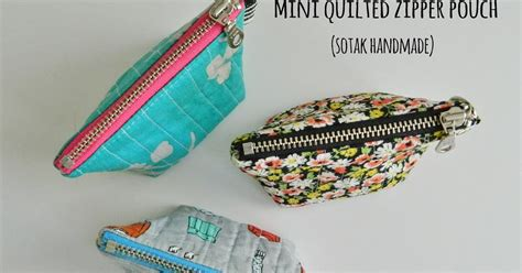 quilted zippered pouch pattern s o t a k handmade mini quilted zipper pouch a free