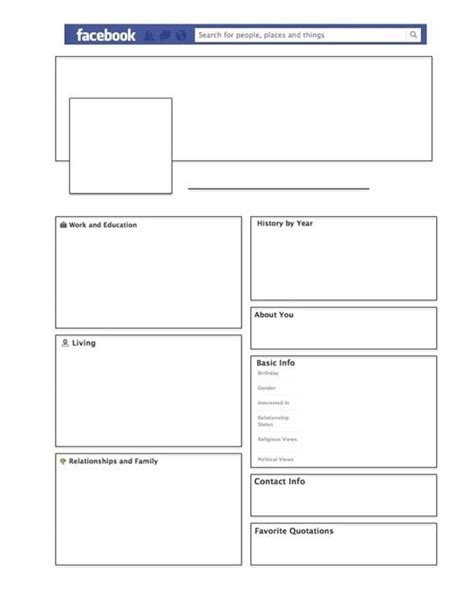 biography facebook template best 25 facebook profile template ideas on pinterest