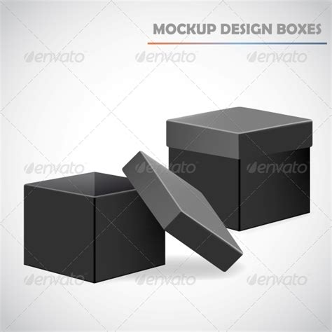 mockup design box stock vector graphicriver mockup design boxes 6103426