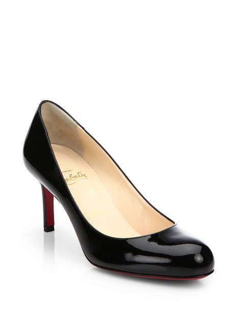black patent leather pumps christian louboutin simple patent leather pumps in black