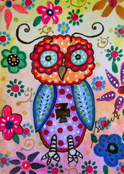Kid Duvet Covers Whimsical Wise Owl Painting By Pristine Cartera Turkus