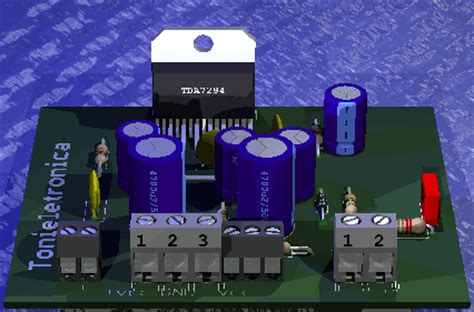 circuit audio power lifier with ic tda7294 80 w rms
