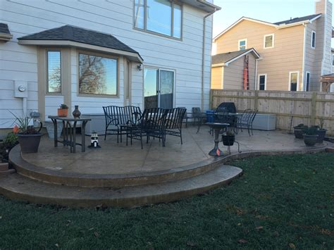 Patios Porches E J Concrete And Dirt Work Concrete Backyard Patio