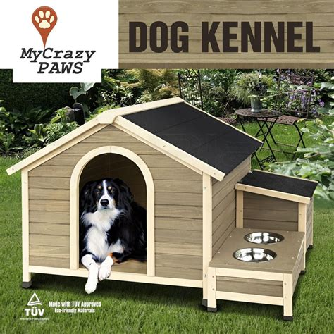 crazy dog house extra large pet dog house timber house wooden with storage box and bow my crazy
