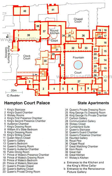 Hampton Court Palace Floor Plan by Hampton Court Palace Map Nanquick