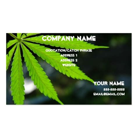 marijuana card template marijuana card business card template zazzle