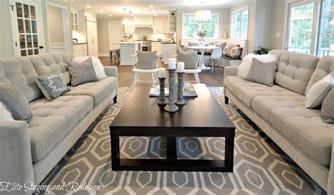 Contemporary Living Room with Carpet by Elite Staging and Redesign, LLC   Zillow Digs