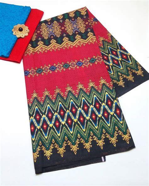 Kain Batik Prada Pekalongan Motif Songket Set Embos Warna Biru batik pekalongan by jesko batik kain batik pekalongan kain batik seragam blus batik kain