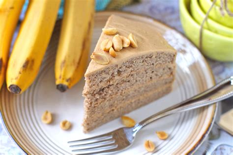 healthy banana cake with peanut butter frosting desserts w benefits