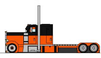 gallery for gt peterbilt semi truck drawings