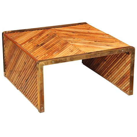 bamboo coffee table gabriella crespi bamboo coffee table at 1stdibs