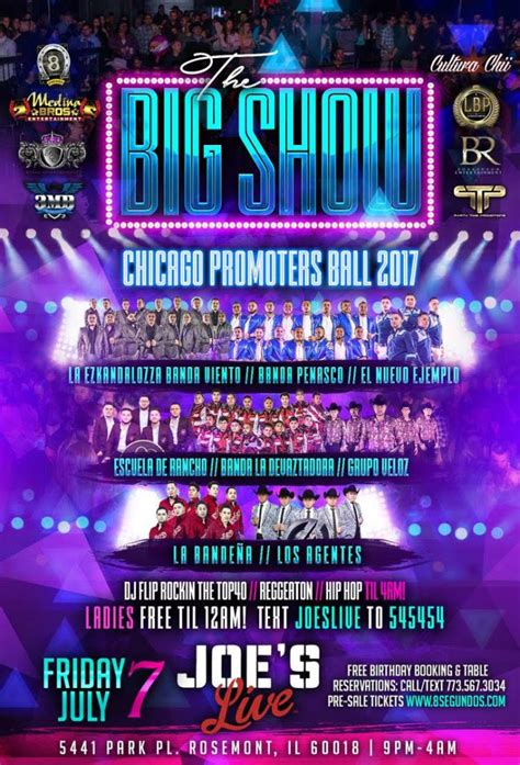 banda boat cruise 2018 chicago the big show chicago promoter s ball 2017 live chicago