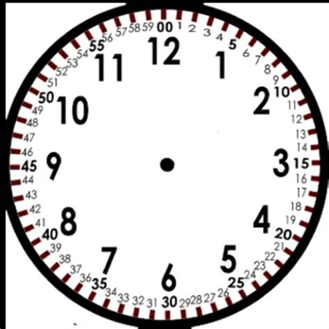 printable clock face with movable hands blank clock template by tchrgrl teachers pay teachers
