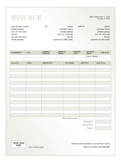 Rental Invoice Template Free Formats Excel Word Rental Property Invoice Template