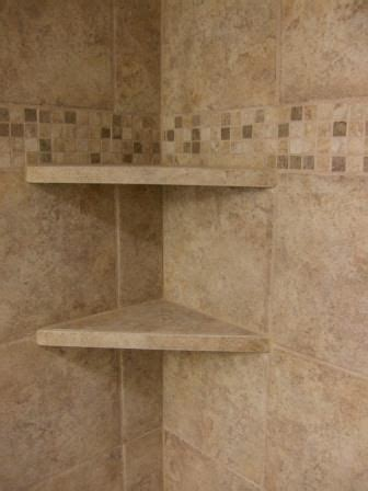 tile shower shelves bathroom remodel diy