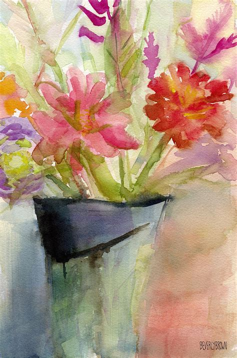 Paintings Of Flowers In A Vase by Beverly Brown Artist Website