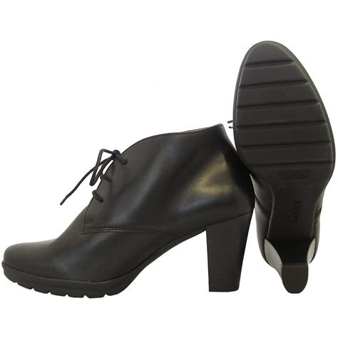 gabor boots aude high heel ankle boot in black