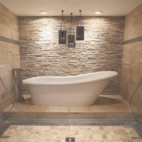 wand im badezimmer steinfliesen an der wand im badezimmer 30 ideen bestimmt