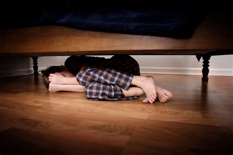 hiding under bed you can t beat fear pretending it s not there savvy dad