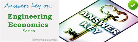 Economics Engineering 6 mcqs in engineering economics part vi answers