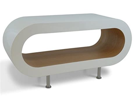 White Retro Coffee Table Medium Retro White And Oak 90cm Hoop Coffee Table Tv Stand With Suk Morehouse