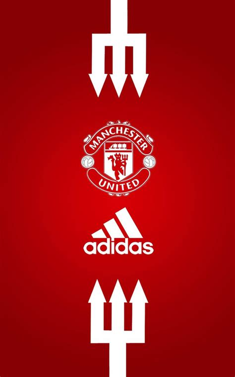 wallpaper adidas manchester united manchester united adidas android wallpaper red