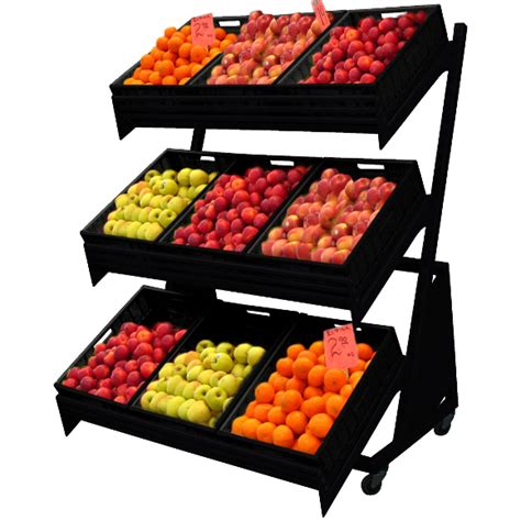 Shelf Of Fruit mobile fruit and vegetable stand on castors max shelf ltd