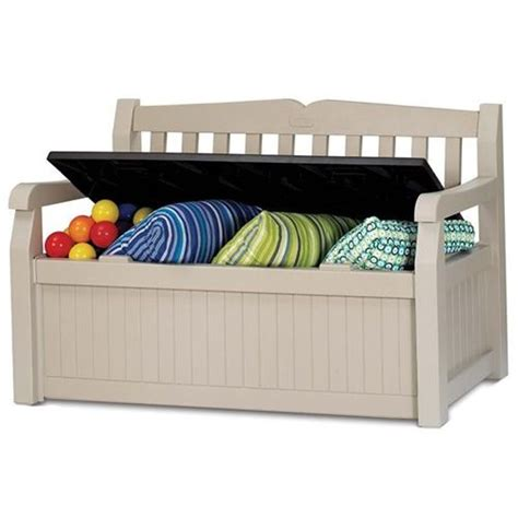 keter garden storage bench seat keter eden outdoor garden storage box bench seat buy