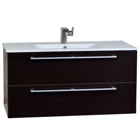 buy caen 40 quot wall mount modern bathroom vanity set