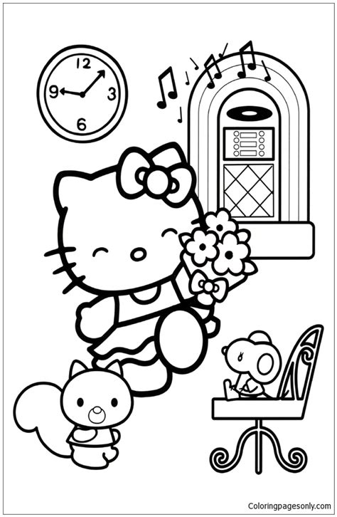 hello kitty dance coloring pages hello kitty dancing 1 coloring page free coloring pages
